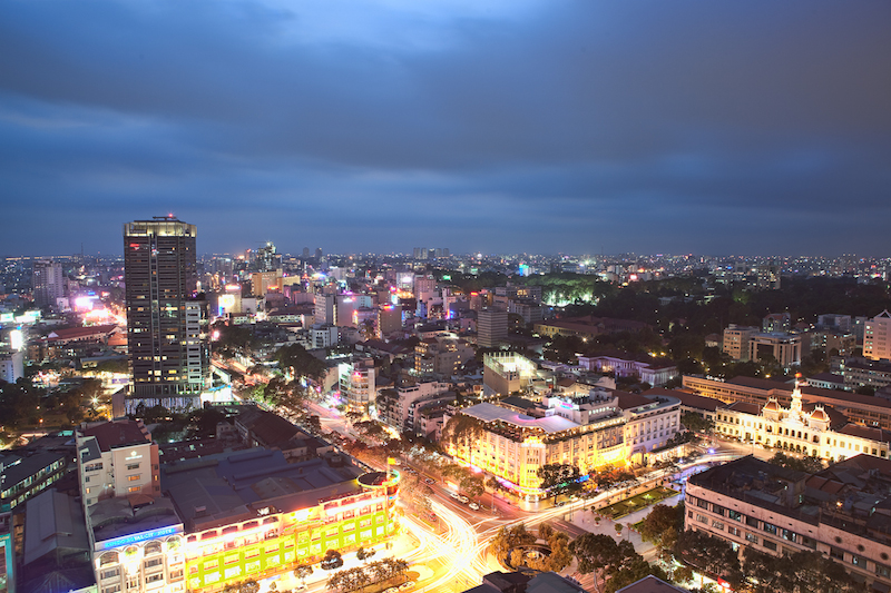 Ho Chi Minh City at Dusk